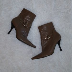 BCBG pointed toe booties